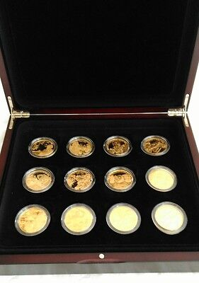 The British Military Leader's Collection - Twelve Piedfort Coins Gold plated