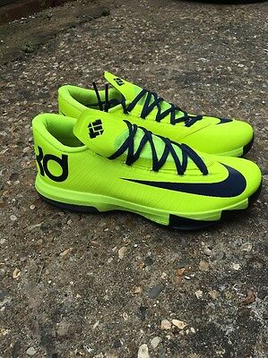 NIKE KD VI 6 Rare Volt Yellow & Blue