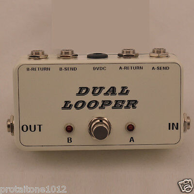 2 Effects Loop True Bypass Pedal TRUE BYPASS Looper guitar AB white pearl