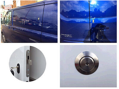 Ford Transit Custom 2012> Rear Van Security Deadlock Kit And Hykee AntiPick Lock