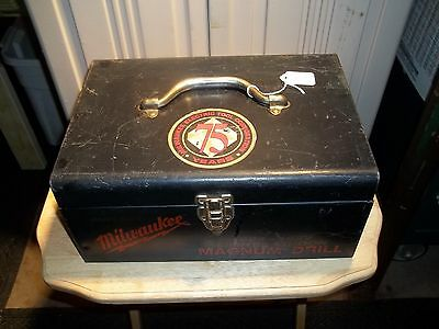 Milwaukee Magnum Drill, 75th Anniversary, 1924-1999 Limited Edition Metal Case