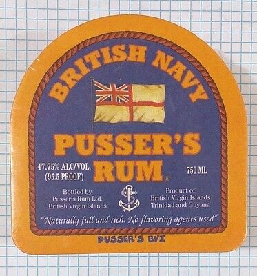 24 Pusser's Rum British Navy BVI Drink Glass Coaster Sealed Painkiller Recipe