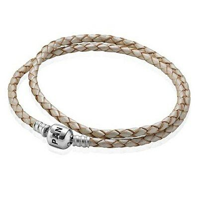 Genuine Pandora Champagne Leather Bracelet 38cm - 590705CPL-D2