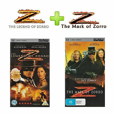 🎞 ●● THE LEGEND OF & THE MASK OF ZORRO ●● UMD Movies for Sony PSP  **SET**