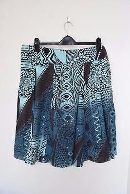 Debenhams Collection Ladies A Frame Line Length  Print Skirt Size Uk 16 - A8