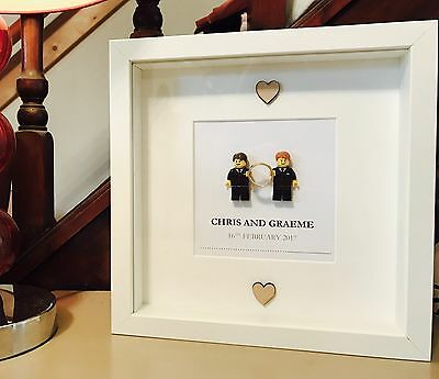 Gay Engagement Gift Lego Frame (or wedding)