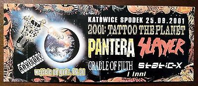 1 Ticket To Hell – NEW – 1 SHOW: PANTERA + SLAYER + STATIC-X + CRADLE OF FILTH