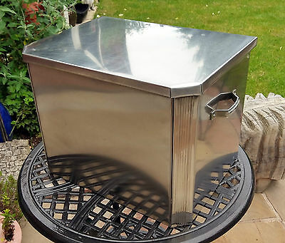 Stainless Steel Coal Storage Box with Galvanised Liner - Superb Quality - Heavy
