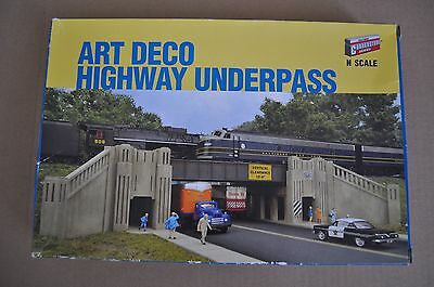 WALTHERS CORNERSTONE 933-3800 N Scale Gauge BUILDING Kit ART DECO UNDERPASS