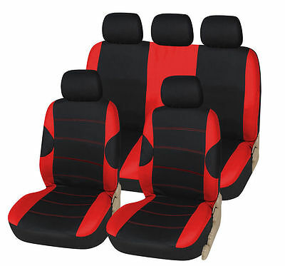 Bmw 3 Series 316D 318D 320D 330D 335D Black Red Racing Seat Covers Cover