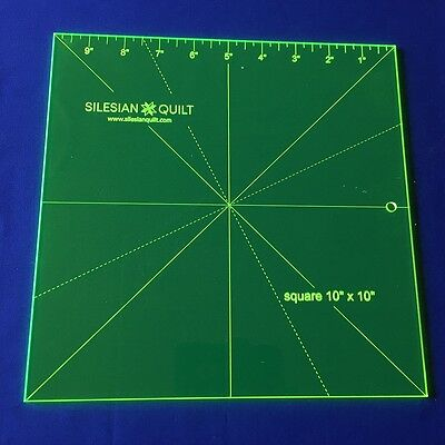 """Template for Patchwork: Square 10"""" x 10"""" with a ruler"""