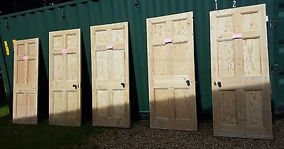 1920s origional 6 panel stripped pine doors, 9 available