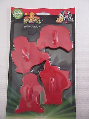 WILTON Power Rangers Set of 4 Cookie Cutters (1994) 2304-5975
