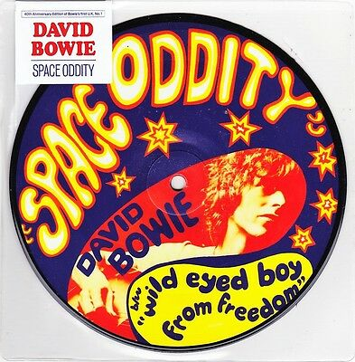 "David Bowie - Space Oddity - 40th Anniversary 7"" Vinyl 45 Picture Disc - New"
