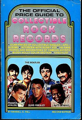 Official Guide To Collectible Rock Records 1980 2Nd Edition-Excellent Hill
