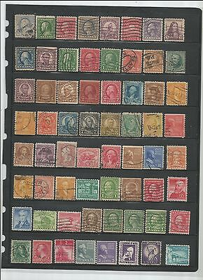 64 Nice Older Used U.S. Stamps