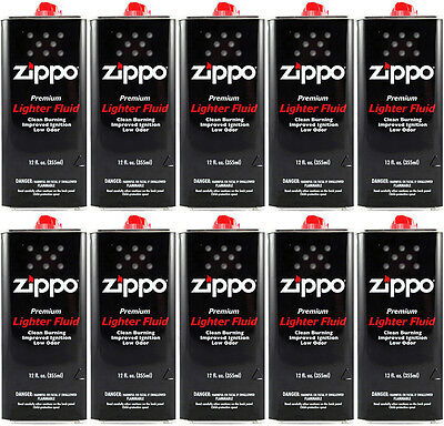 Zippo Premium Lighter Fluid 12 OZ. (355ml) For All Zippo Lighters (Pack Of 10)