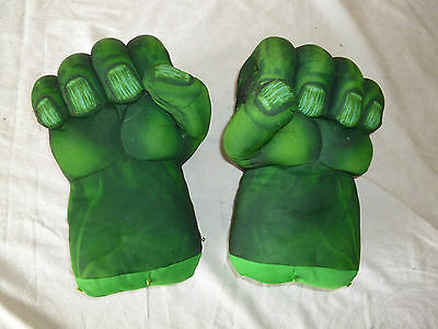 "Marvel Incredible Hulk Plush Pair 11"" Smash Hands/gloves/fists"