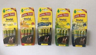 Magic Tree 'little Trees' Invisi Air Vent Car Air Freshners 5 Fragrances