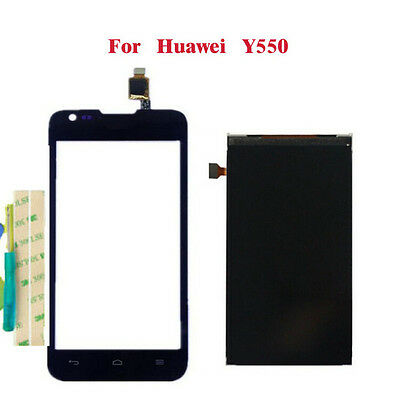For Huawei Ascend Y550 Digitizer Front Touch Screen Glass & LCD Display + Tools
