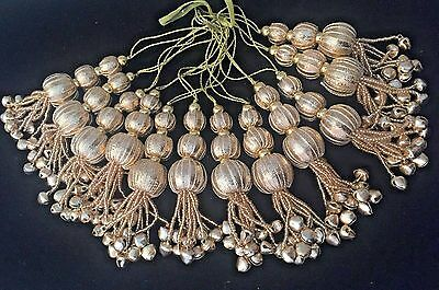 1 pair of Indian Gota and Bells Latkan Sari Blouse Accessory Duppata Sewing