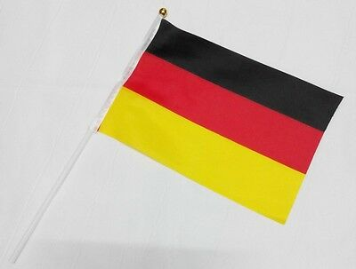 German Hand Waving Flag with pole - German National Flag -  Free UK P&P
