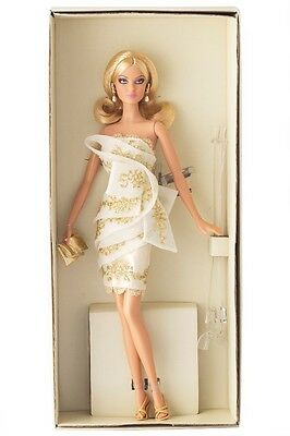 Platinum label Glimmer of Gold Barbie Doll Excellent New in Mattel shipper