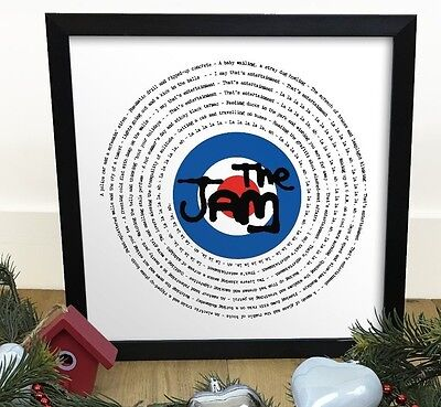 The Jam Town That's Entertainment | Vinyl Single 12' LP Size Framed RETRO Print