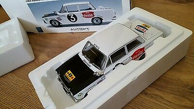 cortina mk1 ford gt 1:18 scale model 1964 huges/young #3 rally car rare