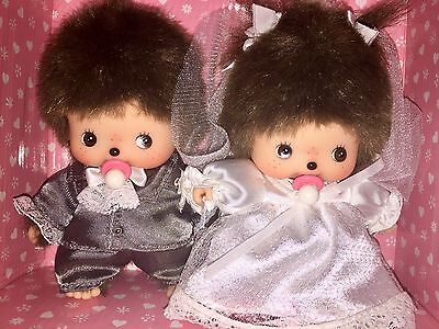 Sekiguchi MONCHHICHI BEBICHHICHI WEDDING SET Monchichi *OVP* #300014