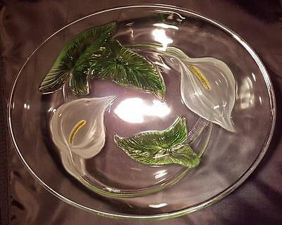 Stunning French Luminarc Arum By Cristal D'arques-Durand Lily Glass Bowl