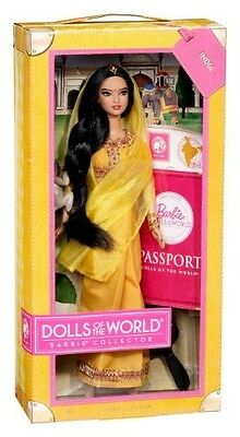 Excellent Barbie Collector Dolls of World DOTW India 2012 Passport Mattel