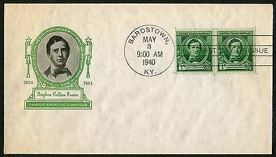 #879 1c Stephen Collins Foster, Ioor-Addressed FDC **ANY 4=FREE SHIPPING**