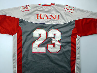 Vtg 90's Karl Kani Sport #23 Jersey Mens XL Embroidered  Mesh Red Silver