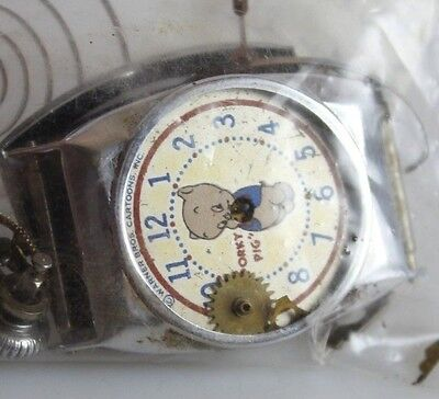 Vintage Rare Collectible Porky Pig Character Watch For Repair  lot.49