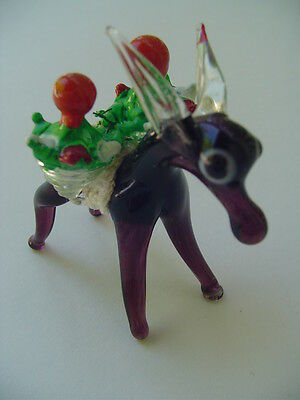 Little Donkey Handblown Glass Mexico Circa 80s