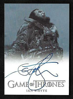 2017 Game Of Thrones Season 6 Autograph Ian Whyte as Wun Wun