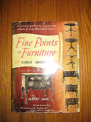 Fine Points of Furniture Early American - Albert Sack, Crown- 1950