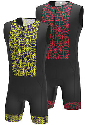 Men Triathlon Tri Suit Padded Compression Running Swimming Cycling Skinsuit