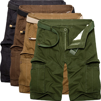 Casual Men's Cargo Shorts Summer Army Combat Camo Short Trousers Pants Outdoor