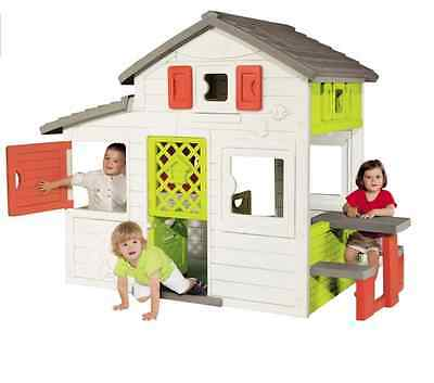 Smoby Friends House Outdoor Garden Playhouse Wendy houses Kids Toys Fun Game NEW