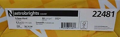 Neenah Astrobright Eclipse Black Card Stock 80 lb cover / 250 pack