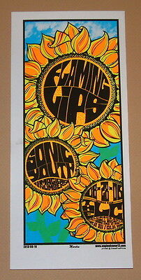Flaming Lips Sonic Youth Columbus Mike Martin Poster Handbill Print 2006