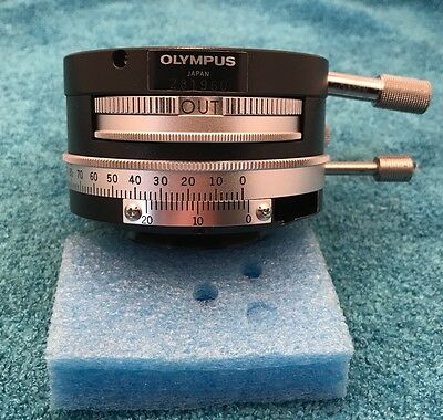 Olympus Microscope Intermediate Polarizing Tube W/ Bertrand Ring - Pol Analyzer