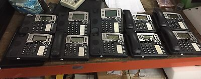 Lot of 10 Grandstream Model GXP2100 VOIP Office Phone (Base Only) Working