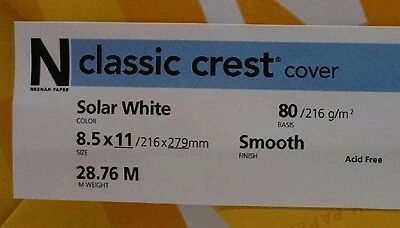 Neenah Classic Crest Solar White Card Stock 80 lb cover / 50 pack