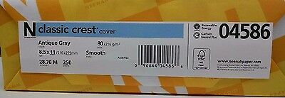 Neenah Classic Crest Antique Gray Card Stock 80 lb cover / 250 pack