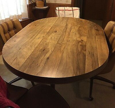 Vintage Mid Century Modern Chromcraft Dinette Set Dining Table & 4 Swivel Chair.
