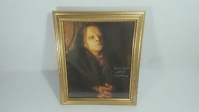 """Rare Lord Of The Rings Brad Dourif Signed Colour Photo 8""""x10"""" Framed/ Glazed"""