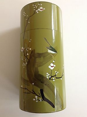 Vintage Japanese Tin Metal Tea Canister - Made in Japan, Ships from USA